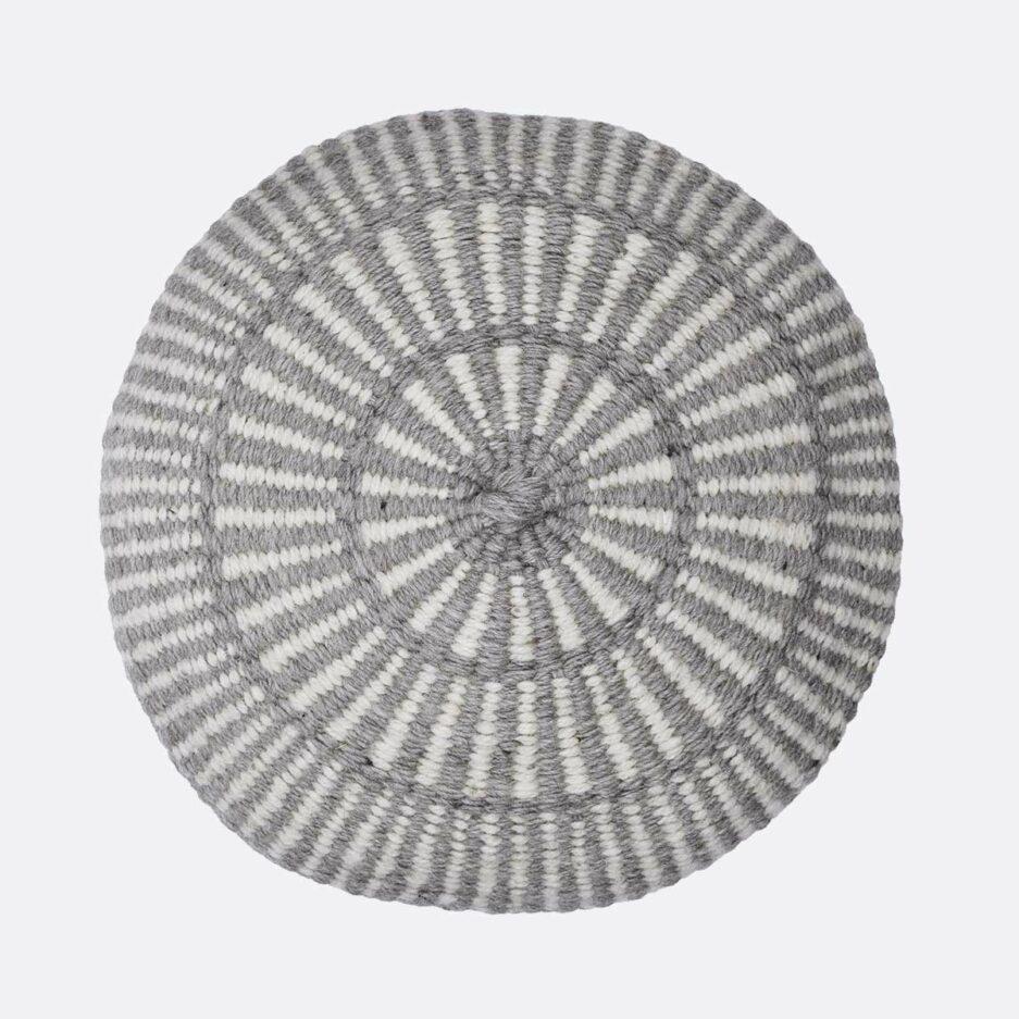 Coussin ethnique rond motif gris Finca Home