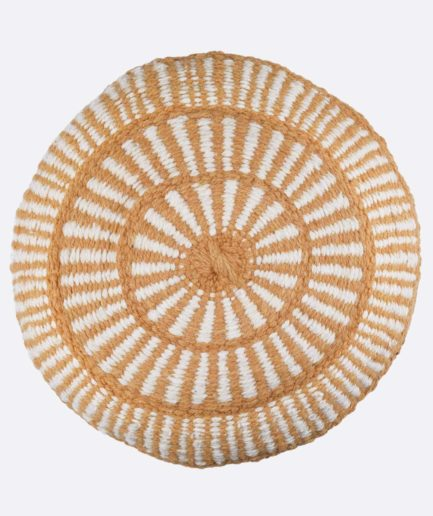 Coussin rond motif ocre Finca Home