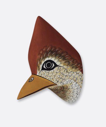 Trophée en bois Oiseau Cardinal Finca Home