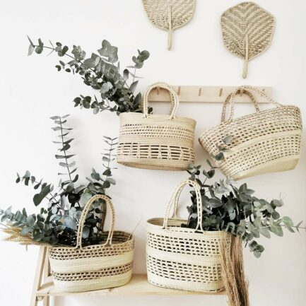 Panier de rangement en palmier Finca Home - Ambiance