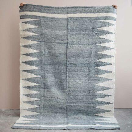 Tapis en laine gris Finca Home