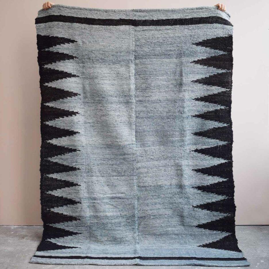 Tapis en laine gris et noir Finca Home