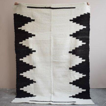 Tapis en laine noir et blanc Finca Home