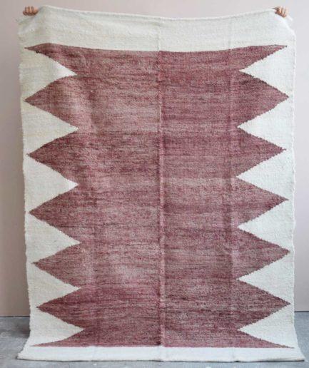 Tapis en laine terracotta Finca Home