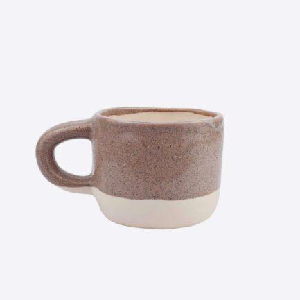 asse bicolore marron en céramique artisanale Martina Palacios - Finca Home