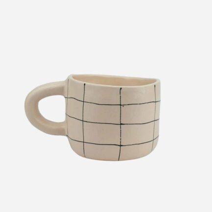 Tasse à carreaux en céramique artisanale Martina Palacios - Finca Home
