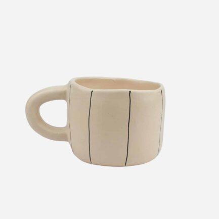 Tasse à rayures en céramique artisanale Martina Palacios - Finca Home