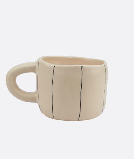 Tasse à rayures en céramique Martina Palacios - Finca Home