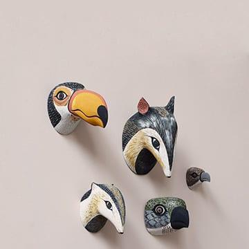 Trophée mural animaux en bois