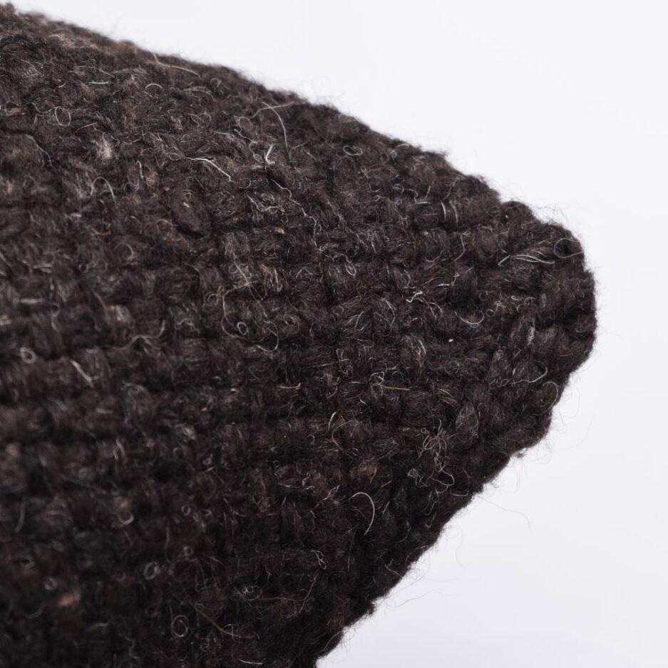 Coussin décoratif carré 50x50 noir Finca Home - Zoom