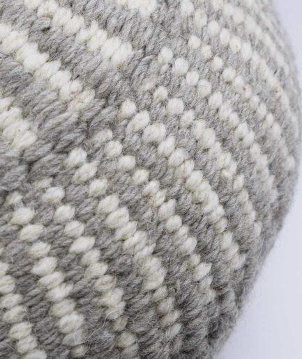 Coussin rond motif gris Finca Home - Zoom