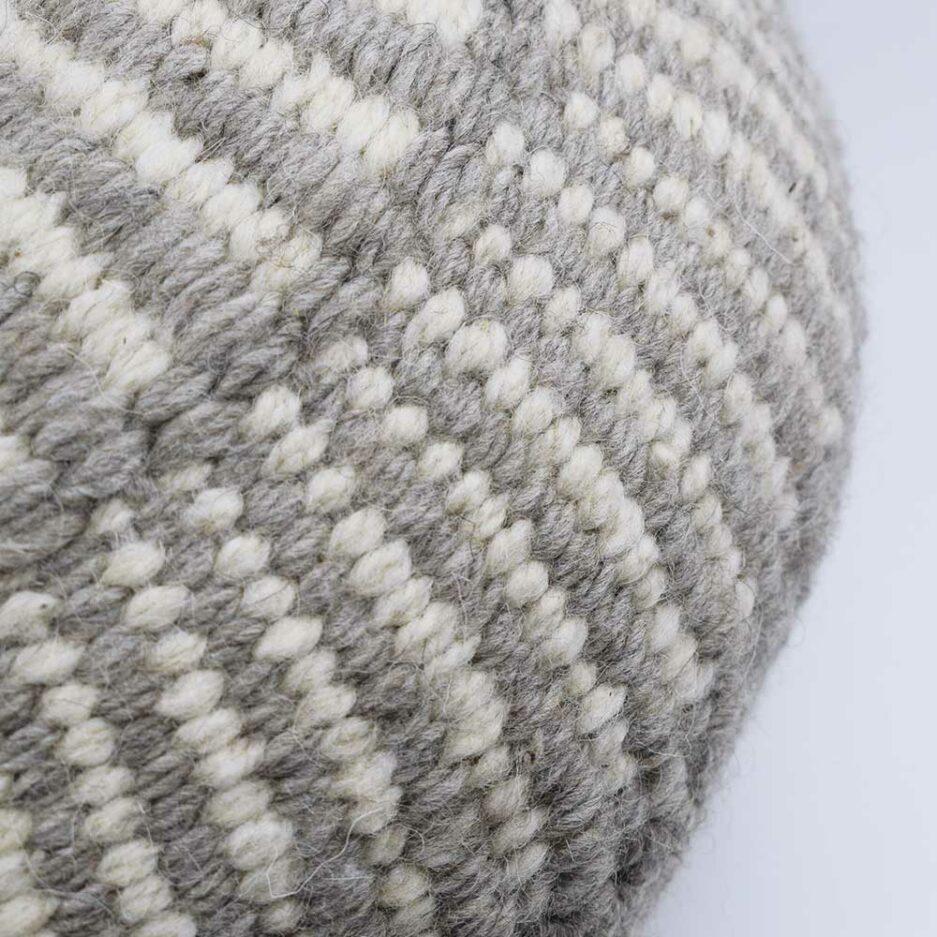 Coussin ethnique rond motif gris Finca Home - Zoom