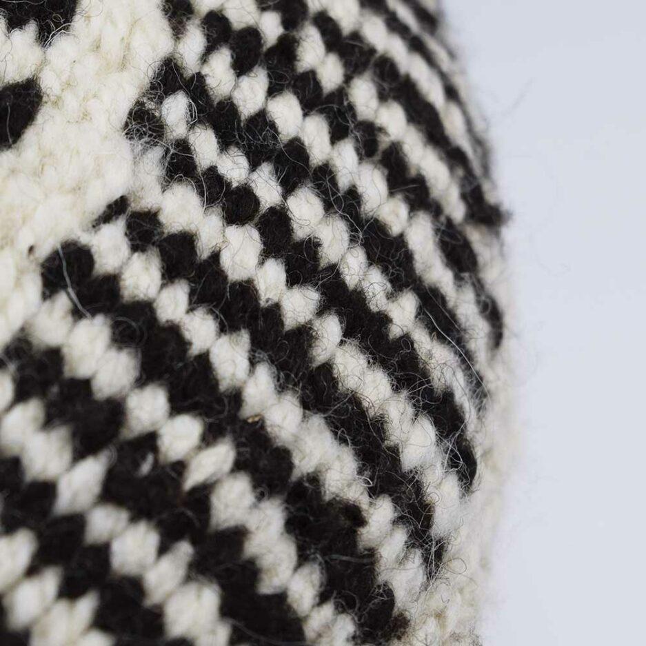 Coussin ethnique rond motif noir et blanc Finca Home - Zoom