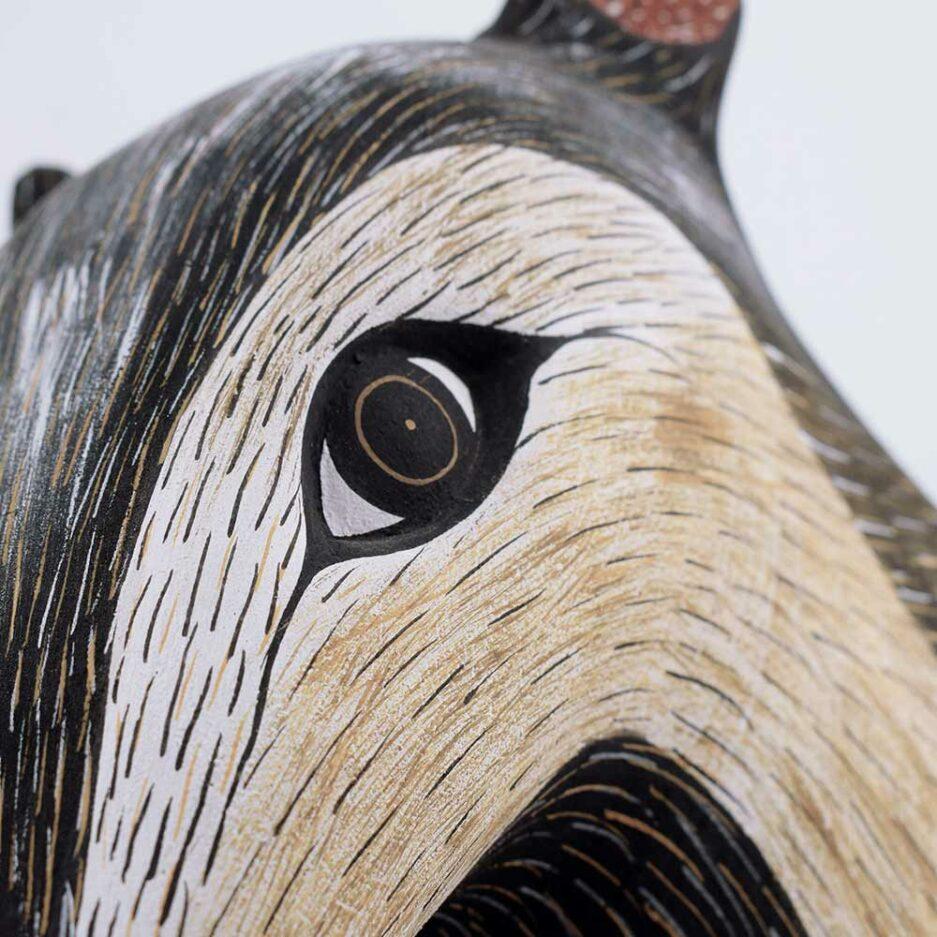 Trophée mural en bois Fourmilier Finca Home - Zoom