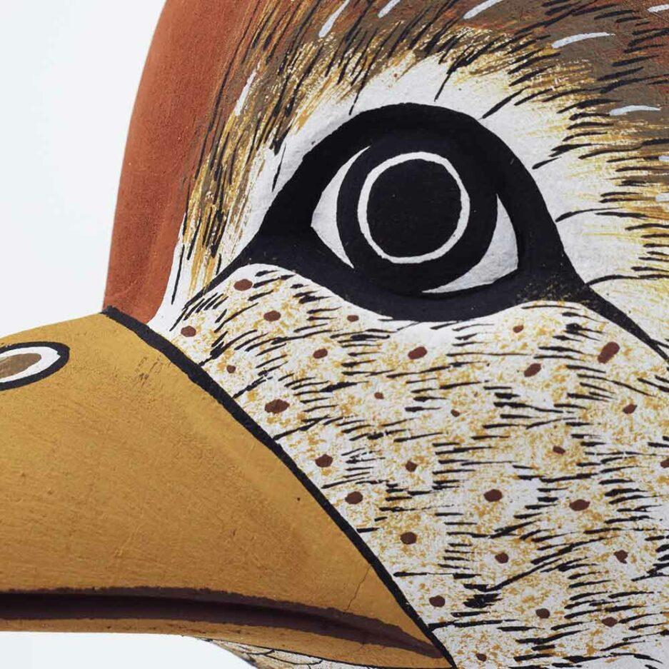 Trophée mural en bois Oiseau Cardinal Finca Home - Zoom
