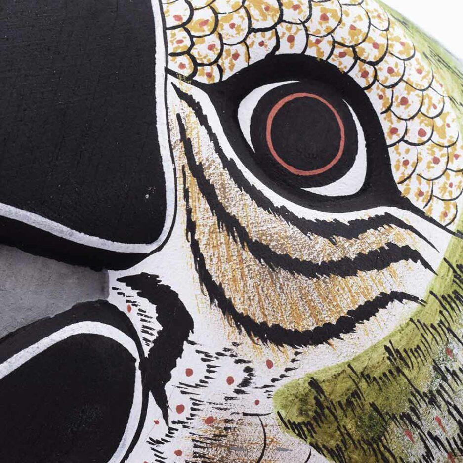 Trophée mural en bois Perroquet Finca Home - Zoom