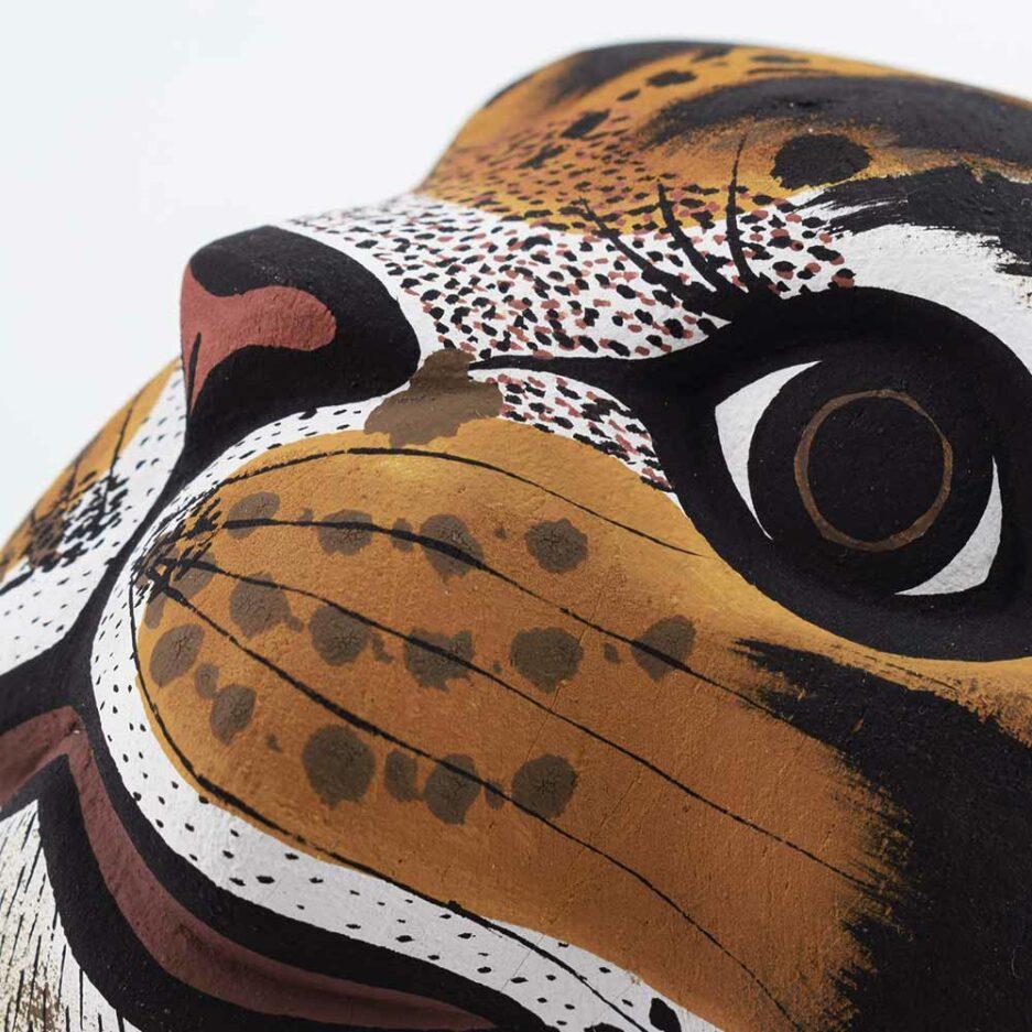 Trophée mural en bois Tigre Finca Home - Zoom