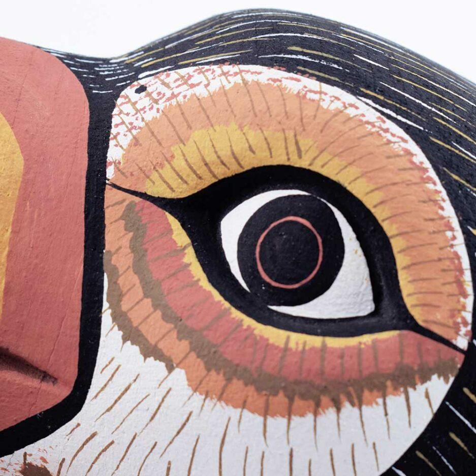 Trophée mural en bois Toucan Toco Finca Home - Zoom