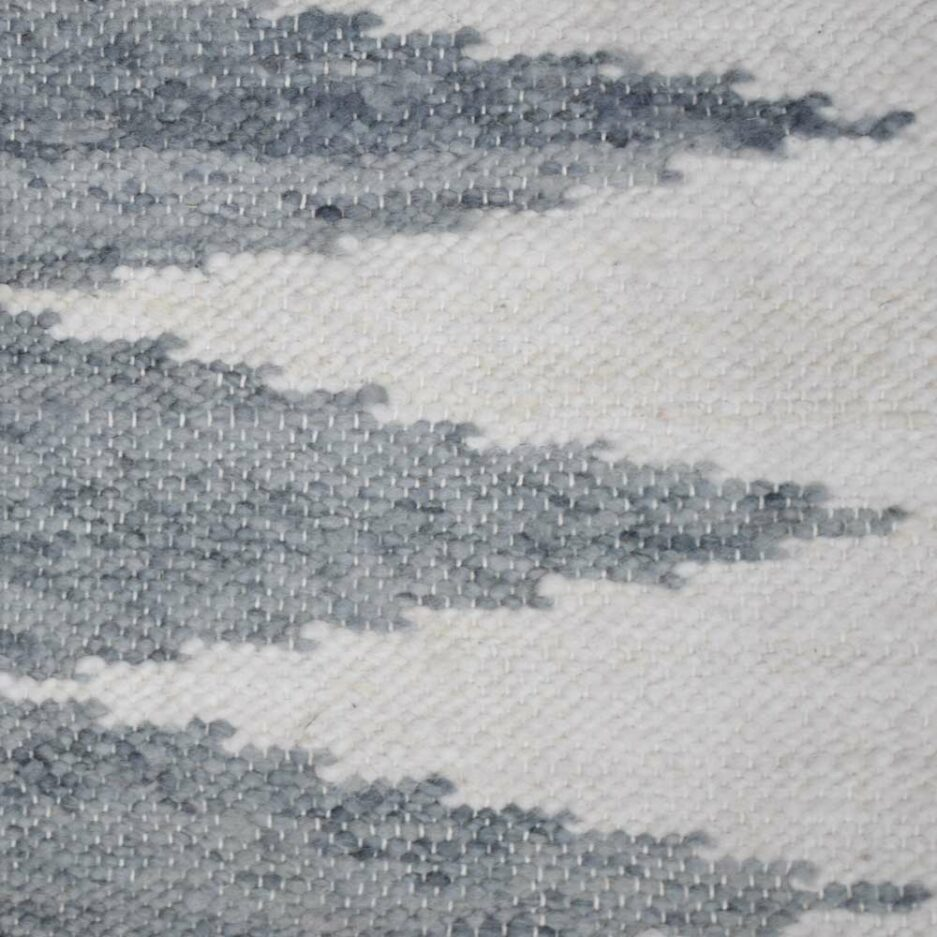 Tapis en laine gris Finca Home - Zoom