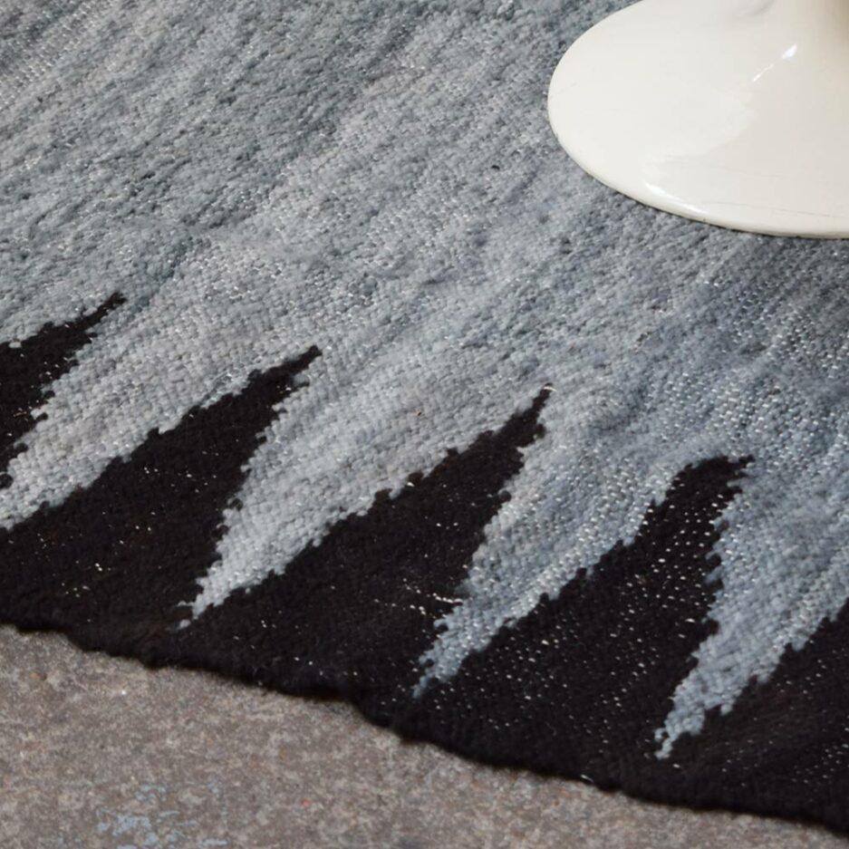 Tapis en laine gris et noir Finca Home - Détails
