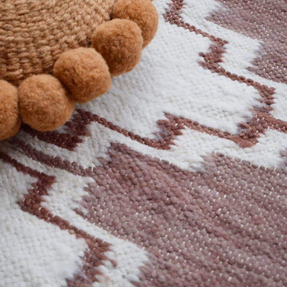Tapis en laine sienne Finca Home - Zoom