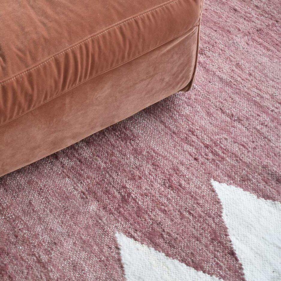 Tapis en laine terracotta Finca Home - Zoom