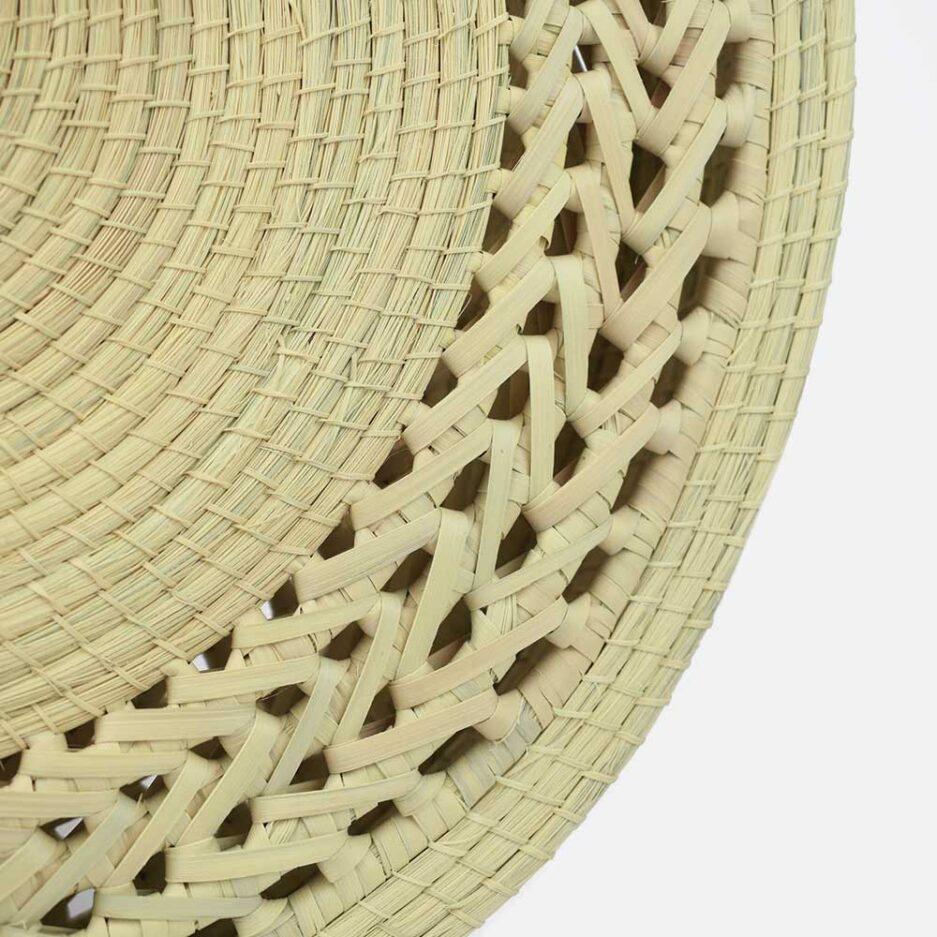 Cabas rond en palmier tressé Agustina Finca Home - Zoom