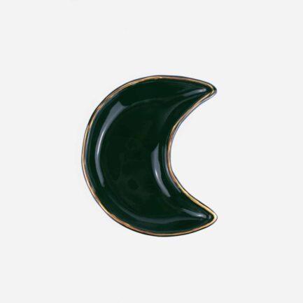 Coupelle en céramique lune vert foncé Finca Home