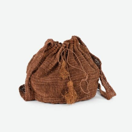 Sac bourse marron Finca Home