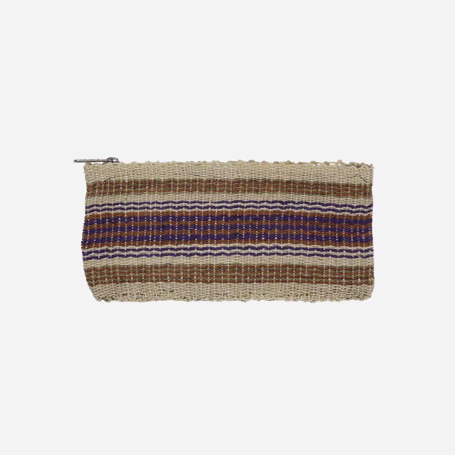 Trousse plate violette en chaguar Finca Home