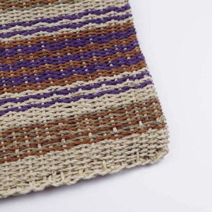 Trousse plate violette en chaguar Finca Home - Zoom