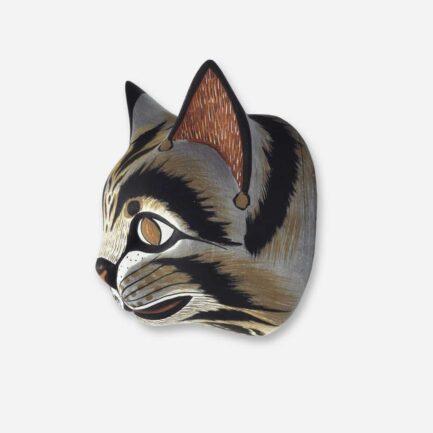 Trophée mural chat en bois - Finca Home