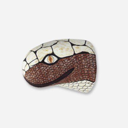 Trophée mural serpent en bois - Finca Home