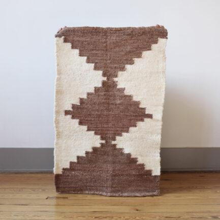 Mini tapis en laine brun Finca Home