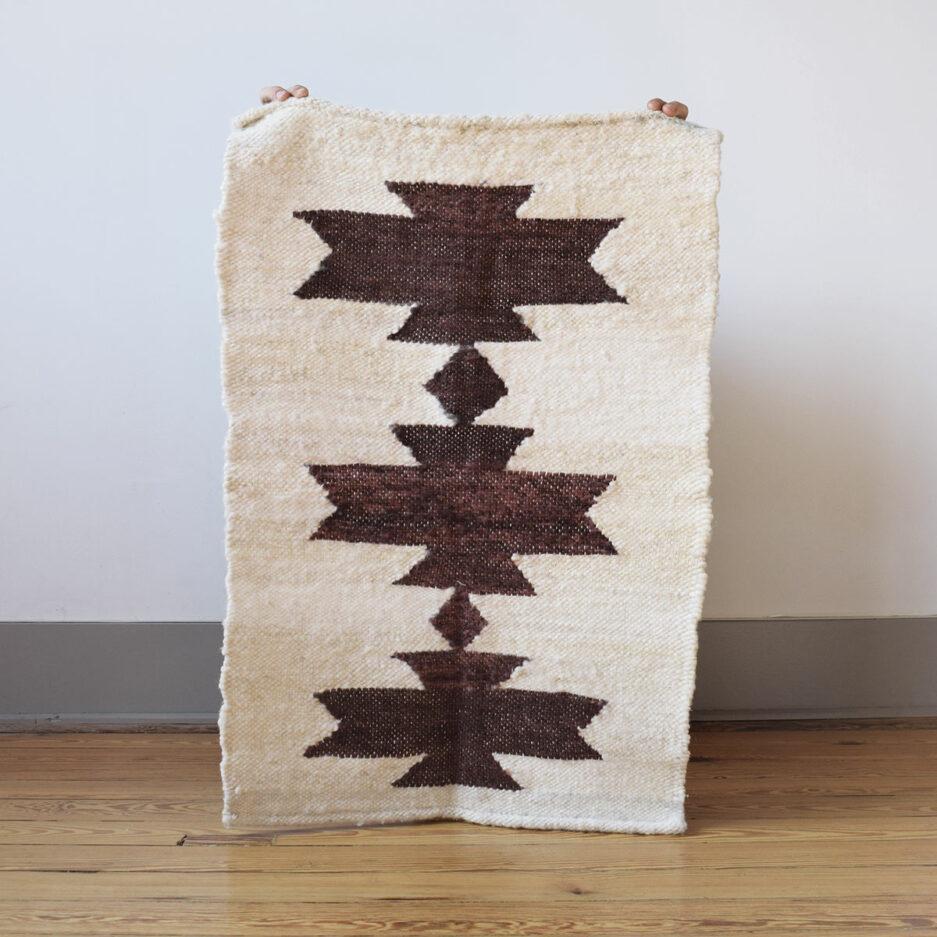 Mini tapis en laine acajou Finca Home