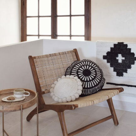 Mini tapis en laine noir Finca Home