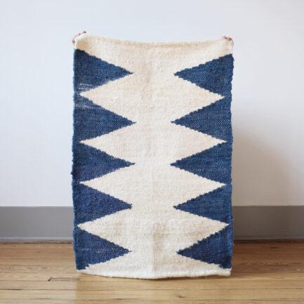 Mini tapis en laine outremer Finca Home