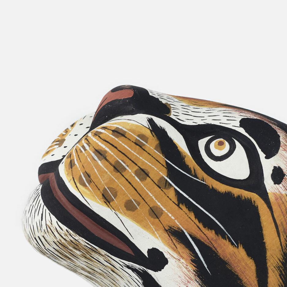 Trophée déco murale en bois Panthera Finca Home