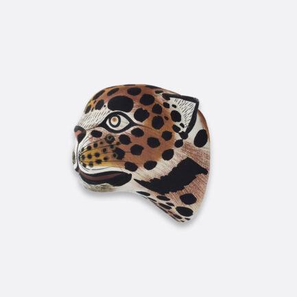 Trophée déco murale petit jaguar en bois Finca Home