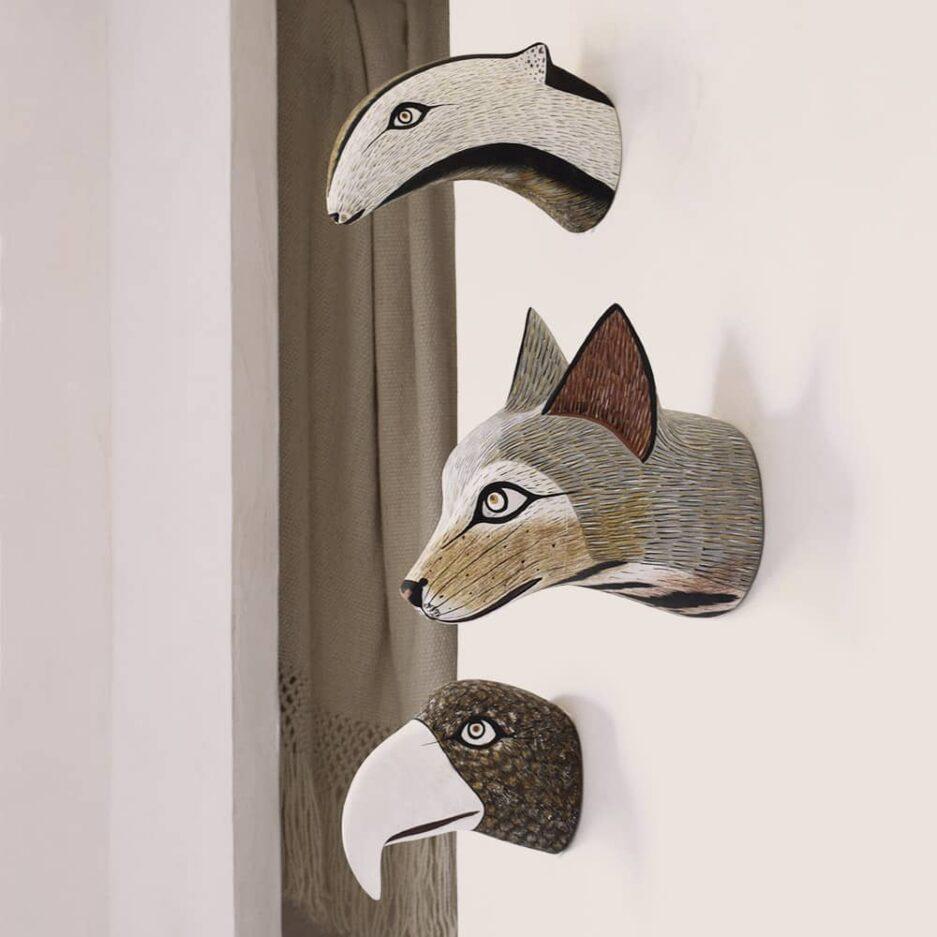 Trophées muraux animaux en bois - Finca Home