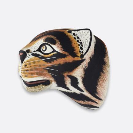 Trophée mural en bois tigre Finca Home