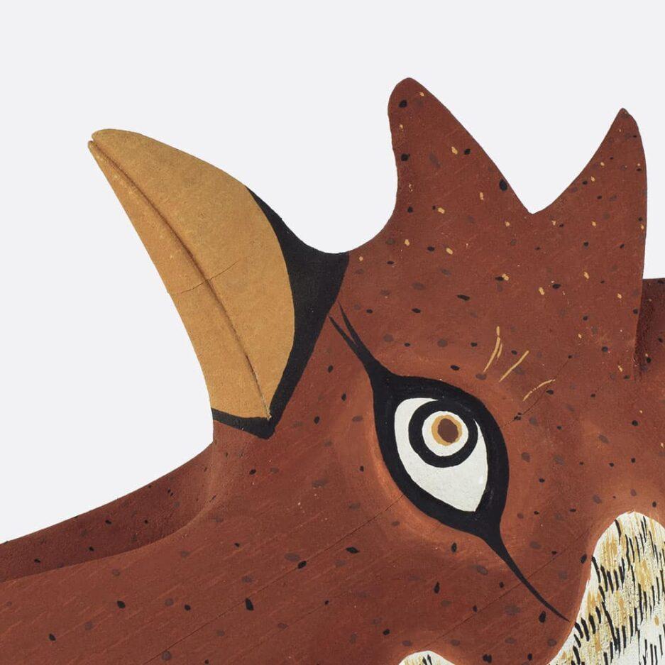 Trophée mural coq en bois - Finca Home