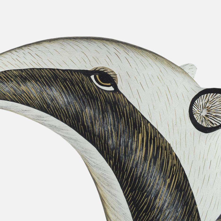 Trophée mural en bois fourmilier Finca Home