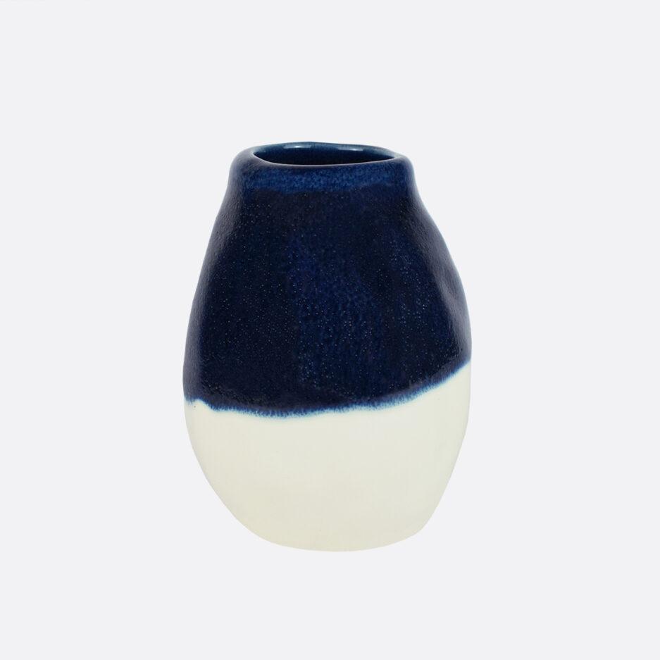Petit vase bleu déco Finca Home