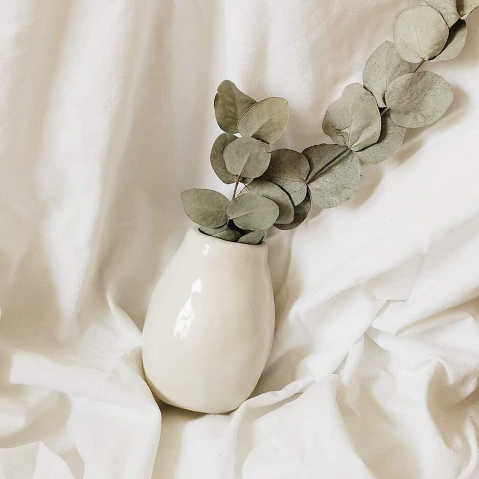 Vase en céramique artisanale crème Finca Home