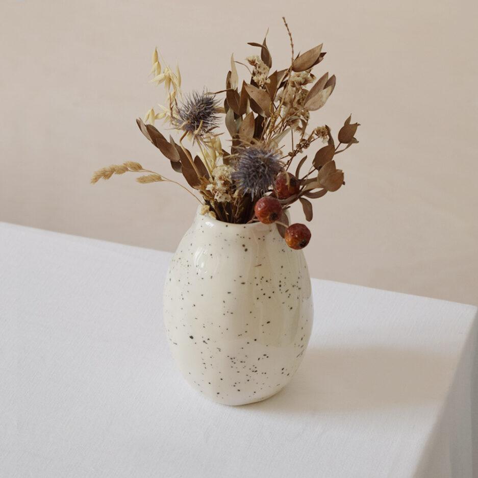 Petit vase moucheté en céramique Finca Home