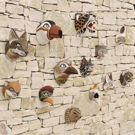 Trophée mural en bois artisanal Finca Home