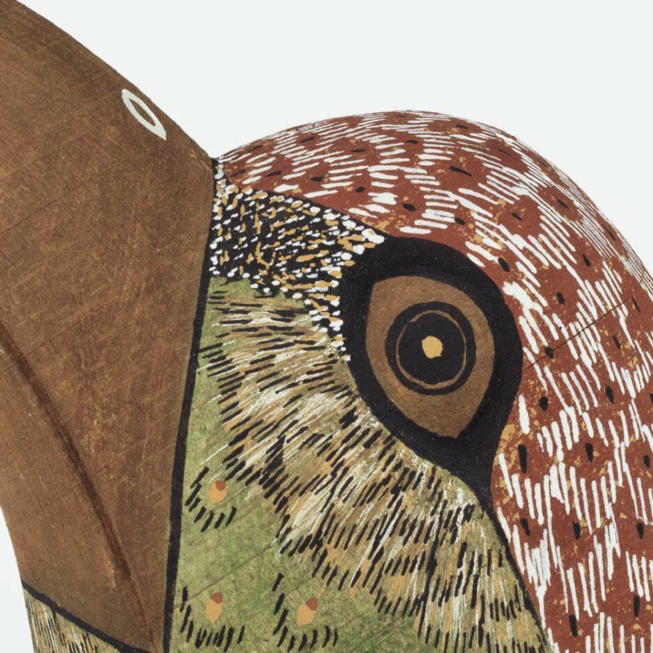 Trophée mural moineau en bois - Finca Home