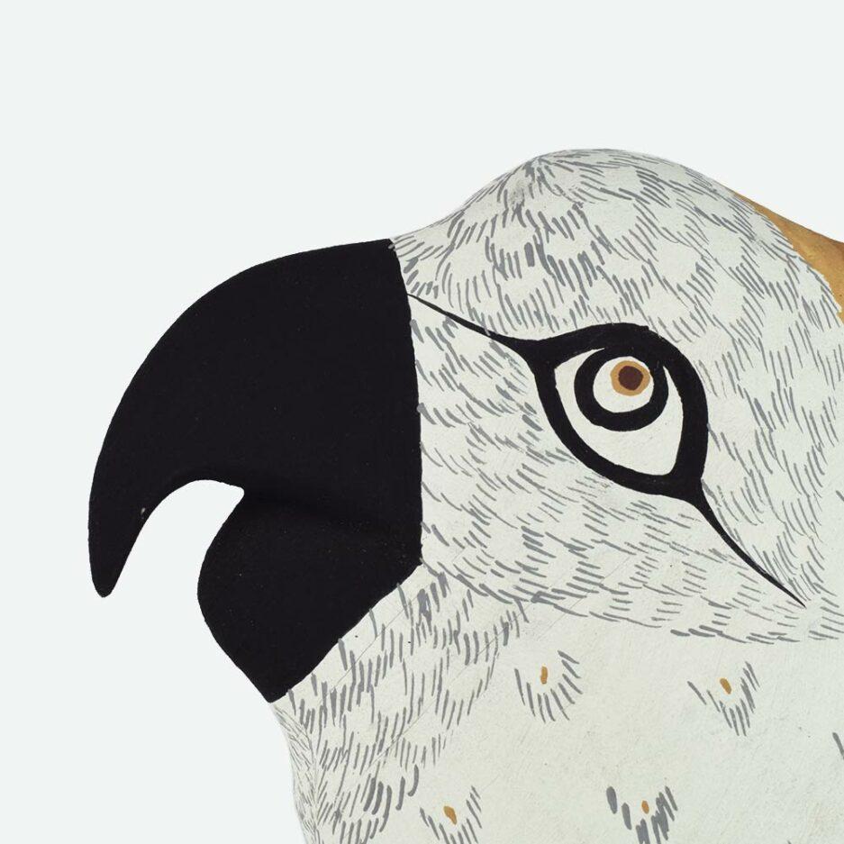 Trophée mural perroquet en bois - Finca Home