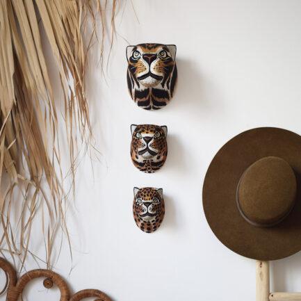 Trophées muraux en bois félin Finca Home